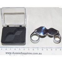 10X and 20X Double Butterfly Jewellers Loupe in Storage Case