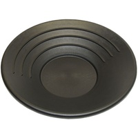 "Standard Gold Pan, Black Plastic, 350mm (14"") Diameter"