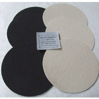 8 inch Set of 3 x Felt Pads / Rubber Discs for Cabbing, PSA backed