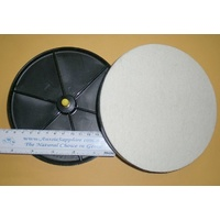 "6"" Spin-On Felt Polish Head to suit Cabbing Machine"