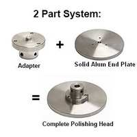 "8"" Solid Aluminium End Plates Full Face - you select Thread"