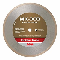 "10"" x 0.032"" x 5/8"" MK303 Diamond Lapidary Blade for cutting stone or glass"