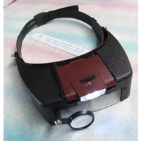 Budget Headband Magnifier with led light and swivel loupe