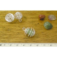Spiral Bead Cage for Beads, Crystals or Stones, 15mm