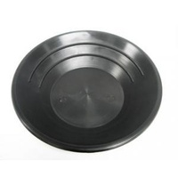 "Test Gold Pan, Black Plastic, 250mm (10"") Diameter"