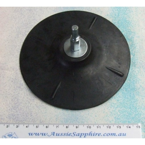 5 inch light rubber backer for mounting polishing pads