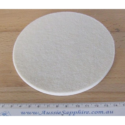 "5"" Felt Pad with PSA back for glass polishing"